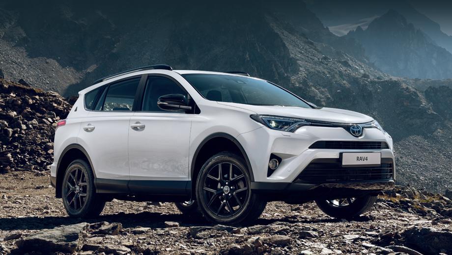Toyota rav4. Модель  пятого поколения до российского рынка ещё не добралась (она появится у нас в 2019-м), так что юбилейная серия (на фото) основана на предыдущем, четвёртом.