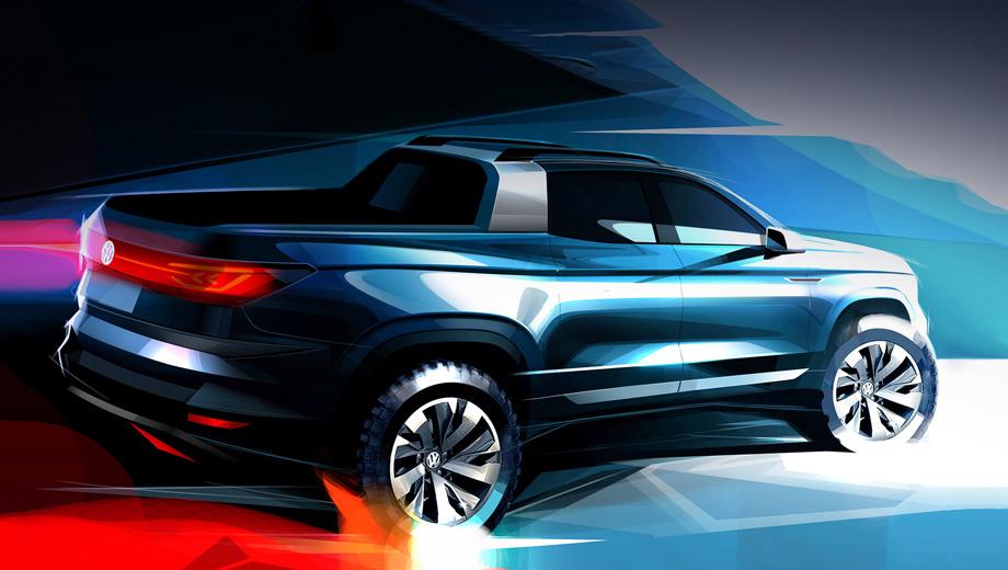 Volkswagen pickup,Volkswagen pickup concept,Volkswagen concept. Согласно описанию, безымянная пока модель — ориентированный на эксплуатацию в городе автомобиль, совмещающий универсальность рабочей лошадки с цифровыми благами цивилизации.