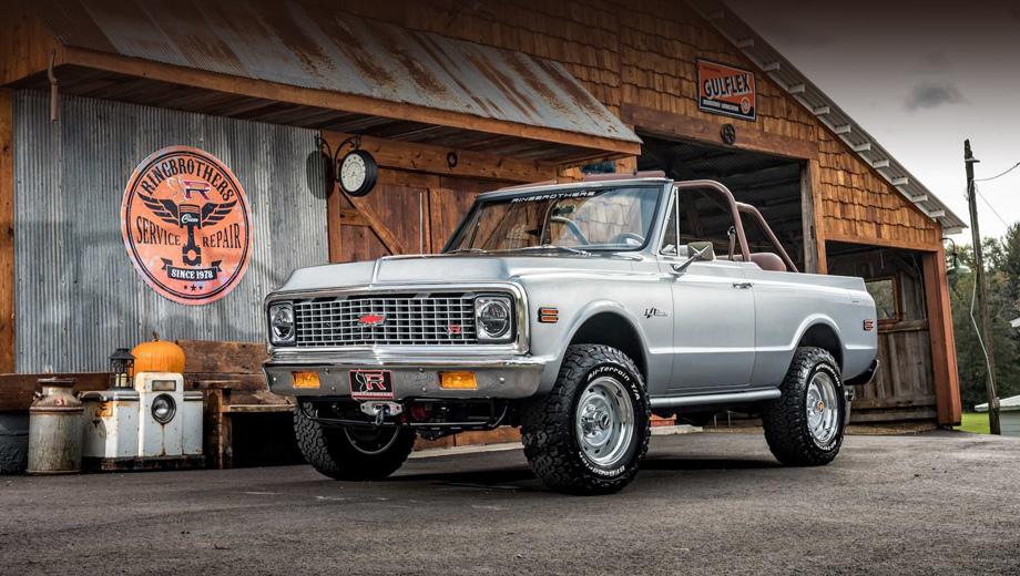 Chevrolet blazer. Это первый автомобиль 4x4 от Ringbrothers. За основу взят старый Blazer, но часть кузовных деталей пришлось сделать заново, включая некоторые элементы пола и боковых панелей, моторный щит и кожух вентилятора.