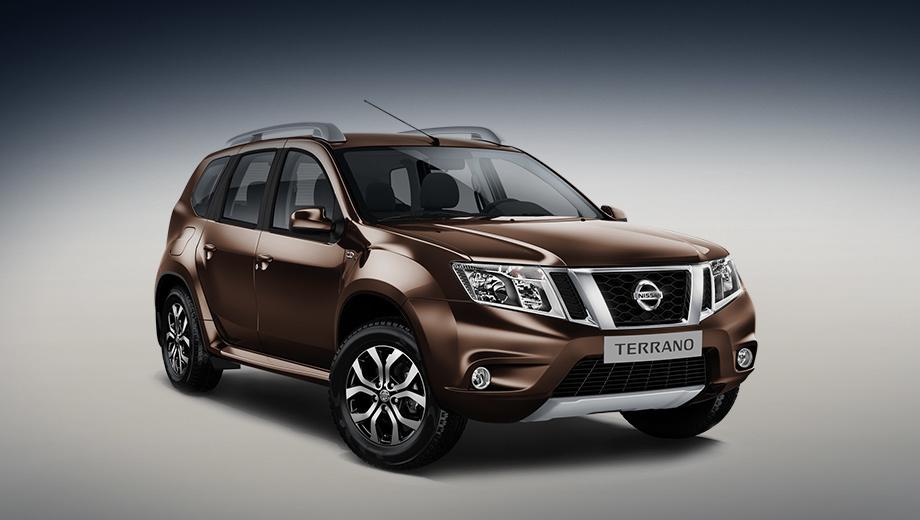 Nissan terrano. В палитру цветов кузова добавлен коричневый «металлик», а арсенал колёсных дисков пополнился 16-дюймовым легкосплавным вариантом с новым дизайном.