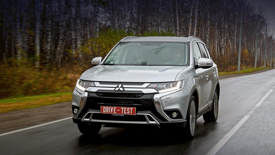 Mitsubishi outlander. В России Outlander доступен с тремя бензиновыми атмосферными двигателями. «Четвёрки» 2.0 (146 л.с., 196 Н•м) и 2.4 (167 л.с., 222 Н•м) агрегатируются вариатором, а трёхлитровая V-образная «шестёрка» (227 л.с., 291 Н•м) работает в паре с шестиступенчатым «автоматом».