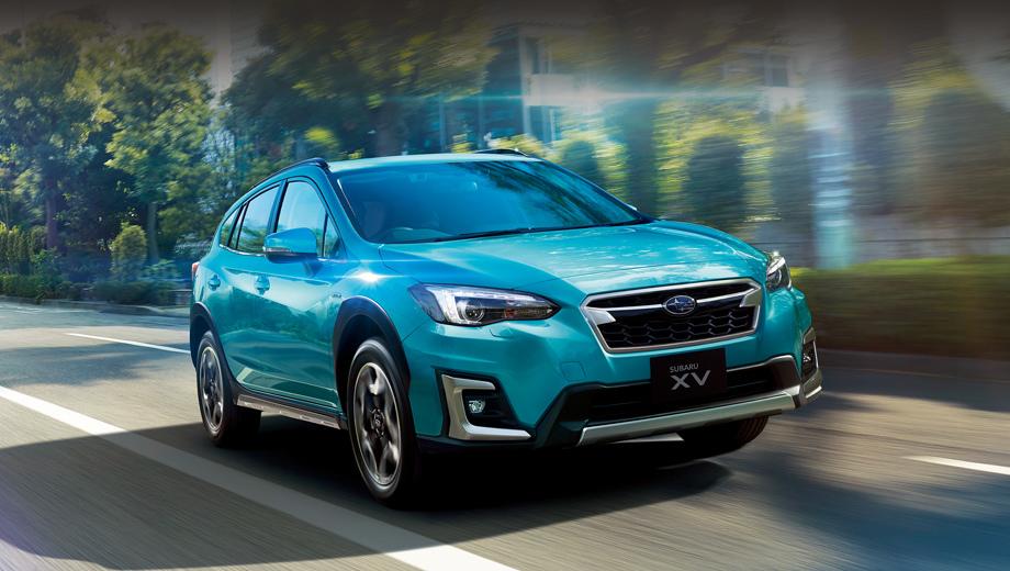 Subaru xv,Subaru crosstrek,Subaru crosstrek hybrid. Предвестником двоякодвижимого Кросстрека можно считать модель XV e-Boxer Advance, появившуюся на японском рынке в сентябре. Однако примечательная буква «e» в данном случае означает всего-то умеренную гибридную добавку. Это ещё не электрокар (его ждём в 2021-м) и не гибрид типа Plug-in.