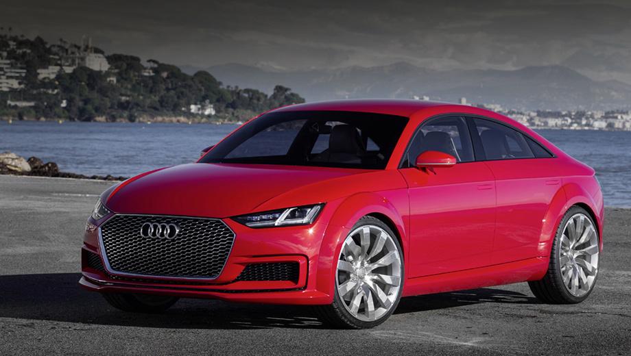 Audi tt. Почти одновременно с шоу-каром TT Sportback (на фото) появилась на свет ещё одна пятидверная  «тэ-тэшка» — концептуальный паркетник Audi TT offroad, представленный в Пекине-2014. Ему прочили серийный индекс TTQ, но как-то не сложилось.