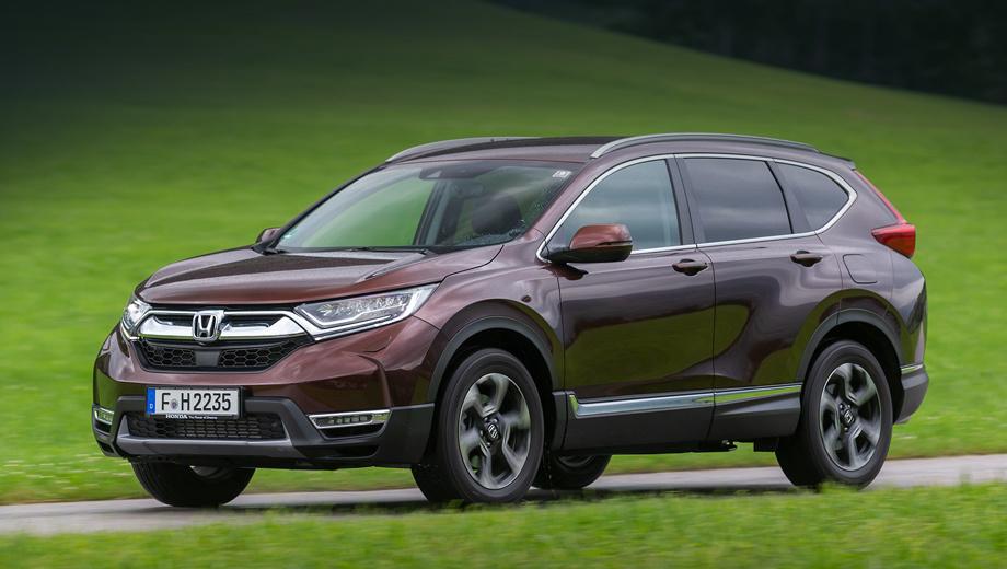 Honda cr-v,Honda civic,Honda hr-v. Паркетник CR-V уже отказался в Старом Свете от двигателей на тяжёлом топливе. Его европейская версия оснащается либо бензиновой турбочетвёркой 1.5, либо гибридной установкой.