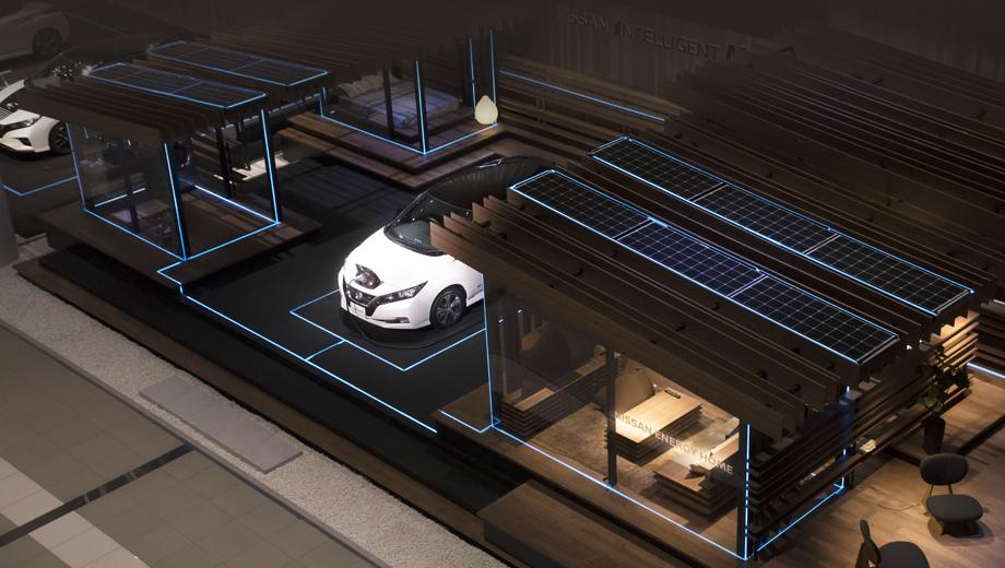 Nissan leaf. Система позволяет машине и дому подпитывать друг друга по очереди, по ситуации. Этот принцип Nissan Energy Share является частью стратегии Nissan Intelligent Integration, предусматривающей более широкую интеграцию машин в инфраструктуру общества в целом.