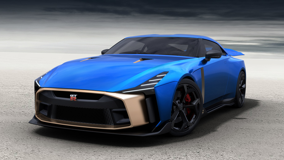 Nissan gt-r,Nissan gt-r50. Напомним, что автомобиль GT-R50 создан по случаю двойного юбилея: в нынешнем году исполнилось 50 лет студии Italdesign, а в 2019-м полвека отмечает GT-R.