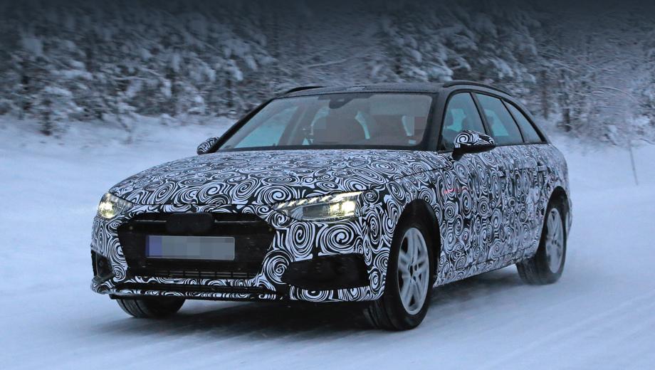 Audi a4. Закономерно, что рестайлинг принесёт «а-четвёртой» новые решётку радиатора и бампер. Но самая крупная перемена — фары. Зигзаг на нижней кромке пропал, теперь по форме передняя оптика A4 напоминает фары «а-седьмой».