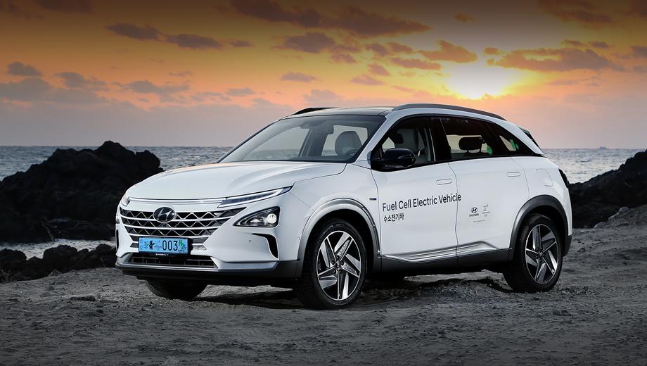 Hyundai nexo. Водородный паркетник Hyundai Nexo, заработавший пять звёзд в краш-тестах Euro NCAP, на днях был включён этой ассоциацией в число лучших моделей по итогам года.
