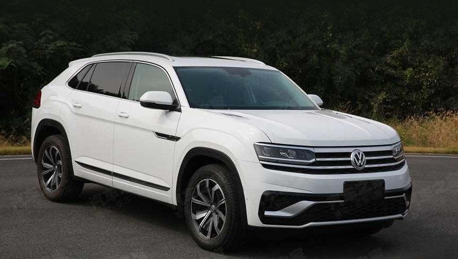 Volkswagen teramont,Volkswagen teramont coupe. По данным китайских СМИ, длина купеобразной модели равна 4905 мм (на 134 мм меньше, чем у простого китайского Терамонта), ширина — 1989 (паритет), высота — 1719 (на 54 мм меньше), а колёсная база составляет 2980 мм (та же, что у обычного).