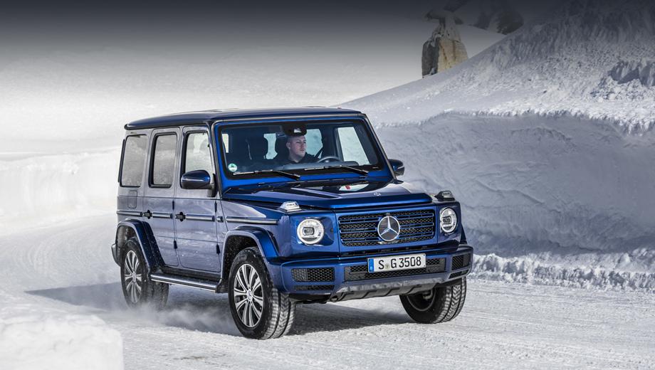 Mercedes g. Модель оснащена «автоматом» 9G-Tronic, который в режиме ECO отсоединяет ДВС от трансмиссии при отпускании педали газа. Это снижает сопротивление движению и увеличивает расстояние, проходимое накатом.