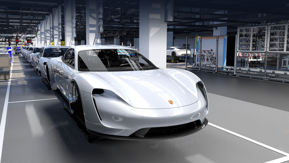 Porsche taycan. Окончательный вид Тайкана можно оценивать по компьютерным рисункам, концепту Mission E и тестовым прототипам.