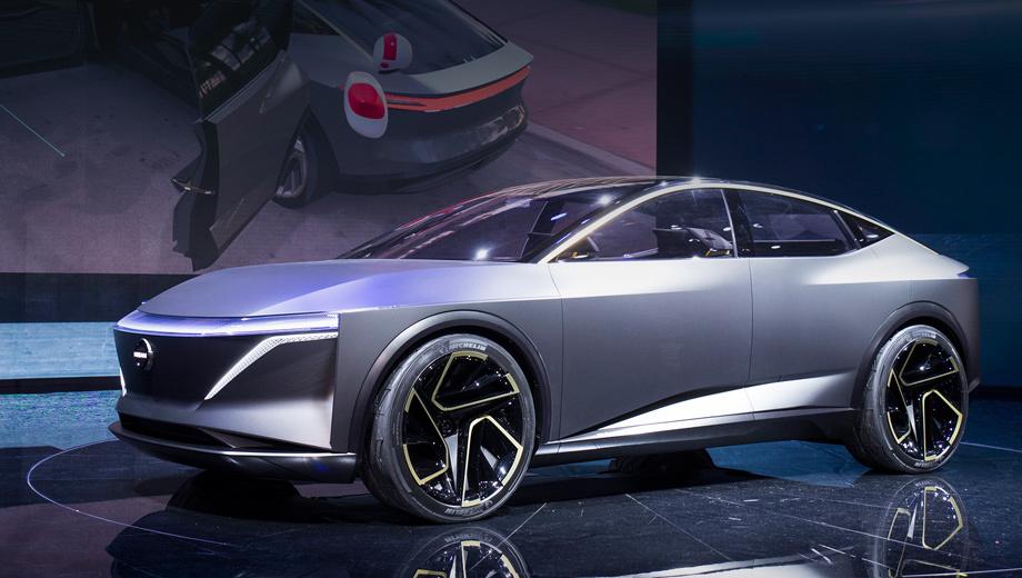 Nissan ims,Nissan ims ev sports sedan,Nissan concept. Стилистически IMs, чья премьера состоялась в Детройте, продолжает дело прототипа IMx Kuro, уже одобренного к серии. Седан на 22-дюймовых колёсах отличается «провокационными пропорциями, спортивным характером и превосходной аэродинамикой».