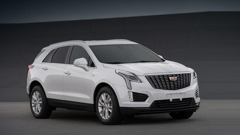 Cadillac xt5. Обновлённую машину проще отличить от прошлой по рисунку решётки радиатора. Другие перемены не столь бросаются в глаза.