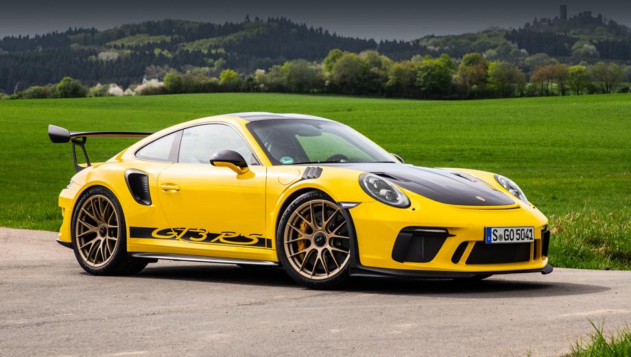 Porsche 911,Porsche 911 gt3 rs. Здесь показана версия 911 GT3 RS Weissach Package уходящего поколения (991.2) после модернизации 2018 года.