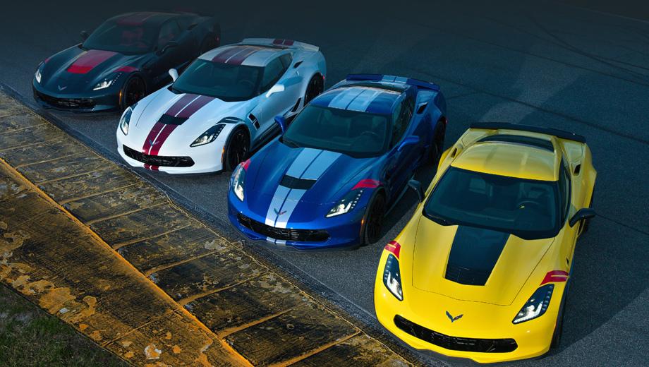 Chevrolet corvette. Серия вдохновлена гоночным Корветом C7.R. И всё же перед нами просто дорожная модель с чуть более продвинутой подготовкой для кольца, нежели штатная.