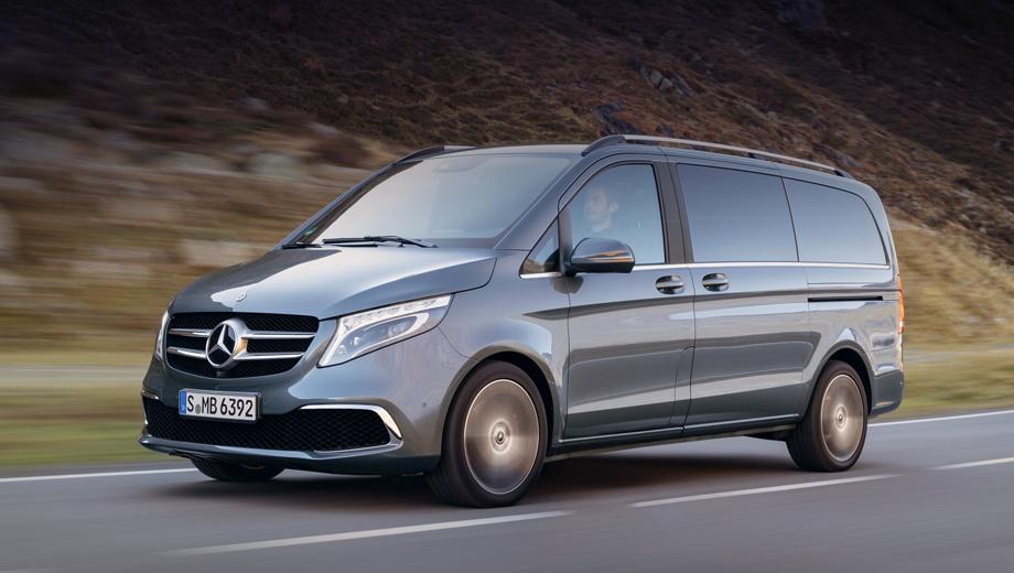 Улучшенный Мерседес-Бенс V-Class: новый дизель и9-ступенчатый «автомат»