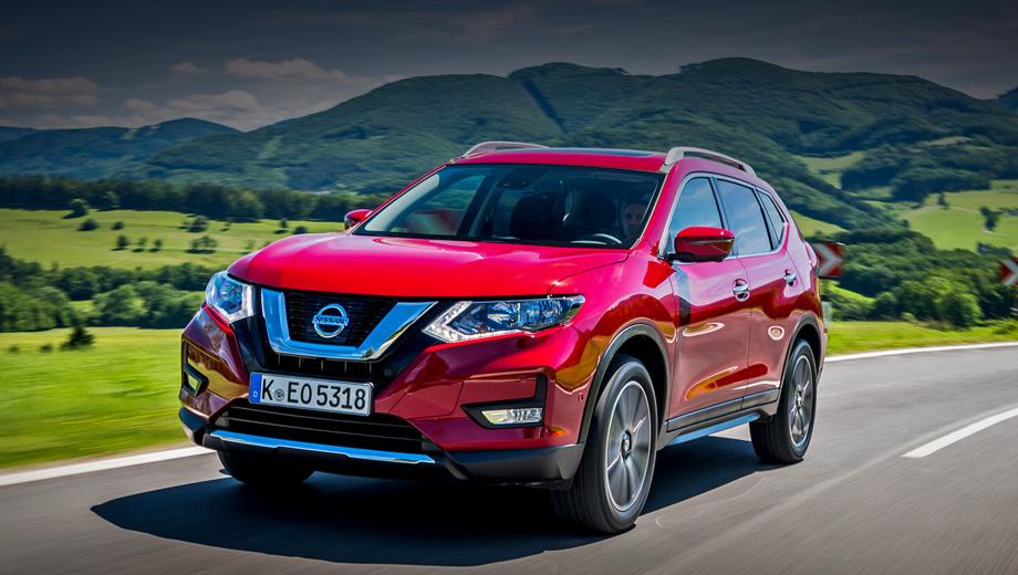 Nissan x-trail. Такой паркетник сейчас в Германии стоит от 25 590 евро (1,9 млн рублей). «В базе» тамошний X-Trail оснащён передним приводом, бензиновым турбомотором 1.6 (163 л.с., 240 Н•м) и шестиступенчатой «механикой». В 2017-м в Европе продано 69 833 штуки, за 2018-й будет гораздо меньше.