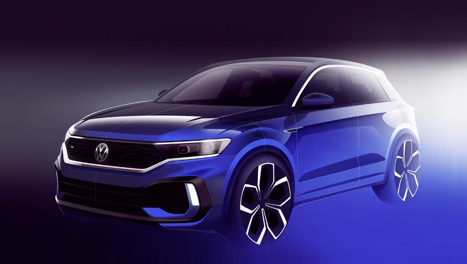 Volkswagen t-roc,Volkswagen t-roc r. Основная польза от тизера: изображение нового бампера, отличного от того, что стоит на простых «ти-роках». Он напоминает бампер концепта T-Rocstar, предвещавшего T-Roc для китайского рынка, только без точного повтора деталей.