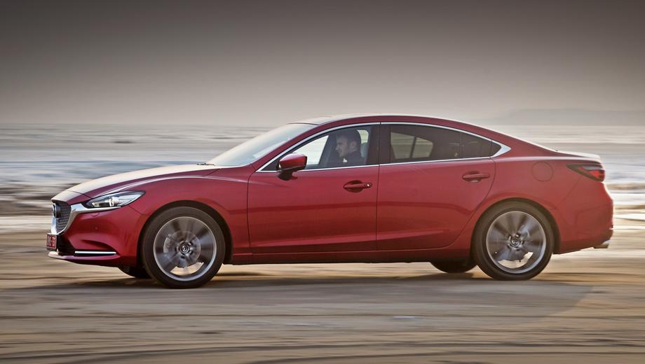 Mazda 6. «Механики» больше нет, а цены начинаются с полутора миллионов рублей за двухлитровый седан и от 1,68 млн ― за машину с мотором 2.5. Новый наддувный двигатель мощностью 231 л.с. увеличивает стоимость до 2,24–2,42 млн.