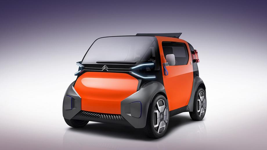 Citroen ami one,Citroen concept. Название, очевидно, отсылает к исторической модели Citroen Ami 6. По размерам Ami One даже меньше, чем старый Smart Fortwo. Длина — 2500 мм, ширина — 1500, высота — 1500. Диаметр разворота — восемь метров. Можно парковаться перпендикулярно тротуару.
