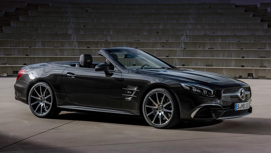 Mercedes sl,Mercedes slc. В Европе приём заказов на SL Grand Edition откроется 22 февраля. Модификация SL 400 (V6 3.0, 367 л.с., 500 Н•м) оценена в 114 811 евро, за SL 500 (V8 4.7, 455 л.с., 700 Н•м) просят 135 993. В пересчёте на рубли это 8,56 и 10,14 млн.