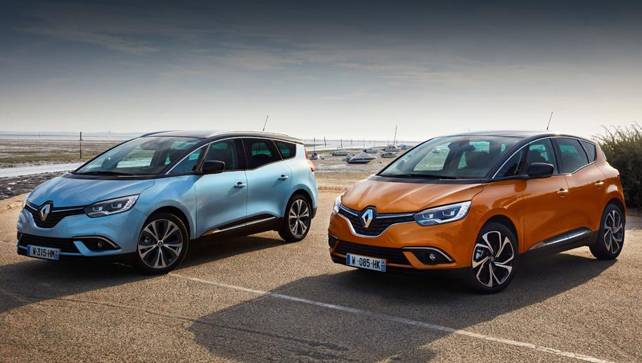 Renault scenic,Renault grand scenic. Четвёртое поколение компактвэна Scenic и его удлинённый собрат с приставкой Grand появились весной 2016-го. Полноценного обновления с тех пор не было, но изменения в моторную гамму вносились не раз.