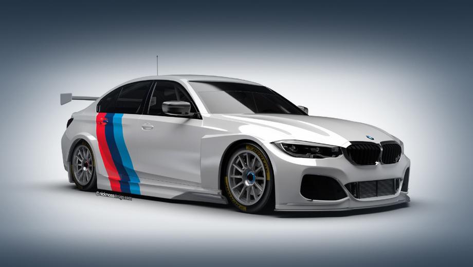 Bmw 3. Новая гоночная модель названа BMW 330i M Sport. Её спортивный дебют состоится шестого апреля на автодроме Brands Hatch в графстве Кент, в первой гонке BTCC-2019.