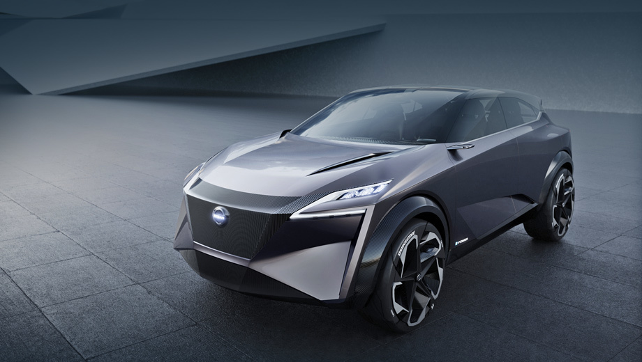 Nissan imq,Nissan concept. Длина концепта равна 4558 мм, ширина — 1940, высота — 1560 мм, шины — 22-дюймовые Bridgestone Connect, сделанные специально для шоу-кара.