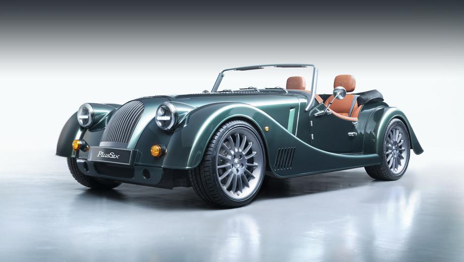 Morgan plus six,Morgan plus 4 110 works edition. Модель Morgan Plus Six даром что выглядит как типичный Morgan в классическом стиле, спроектирована с нуля, пусть и с применением и старых, и новых технических приёмов. Длина родстера — 3890 мм, ширина — 1756, высота — 1220 мм.