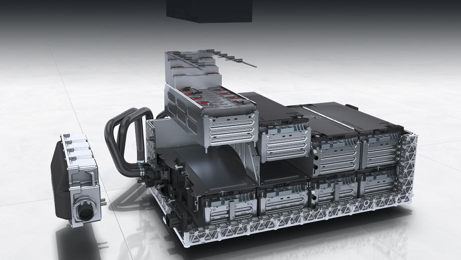 Porsche panamera,Porsche cayenne. Современная батарея плагинов Porsche на примере Кайена: блок весом 138 кг с жидкостным охлаждением и подогревом состоит из восьми модулей по 13 литиево-ионных призматических ячеек марки Samsung в каждом.