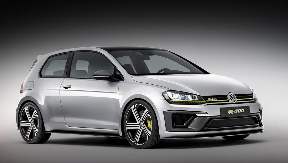 Volkswagen golf,Volkswagen golf r,Volkswagen golf r400. Двухлитровая турбочетвёрка в паре с «механикой» либо «роботом» DSG выдавала на «четырёхсотом» 400 л.с., 450 Н•м, позволяя разменять сотню за 3,9 с и достичь максимальных 280 км/ч.