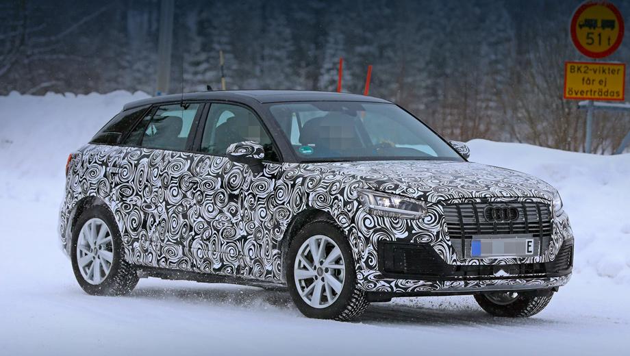 Audi q2,Audi q2 e-tron. Очевидно, эта пятидверка станет самой доступной моделью Audi на батареях. Длина, ширина, высота — 4237×1785×1548 мм, колёсная база — 2628.