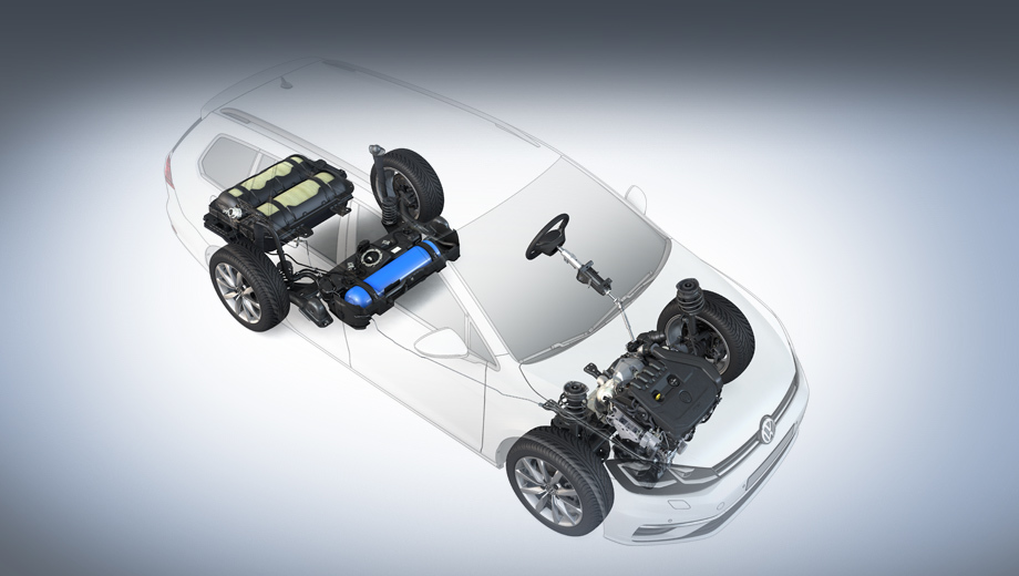 Volkswagen golf,Volkswagen golf variant,Volkswagen golf variant tgi. Главное преимущество универсала Golf Variant TGI перед аналогами — свободный багажник. В машине теперь три баллона для сжатого природного газа, но они ухитрились поместиться под полом, и поэтому все 605 л для груза сохранены нетронутыми, как и в бензиновой модели.