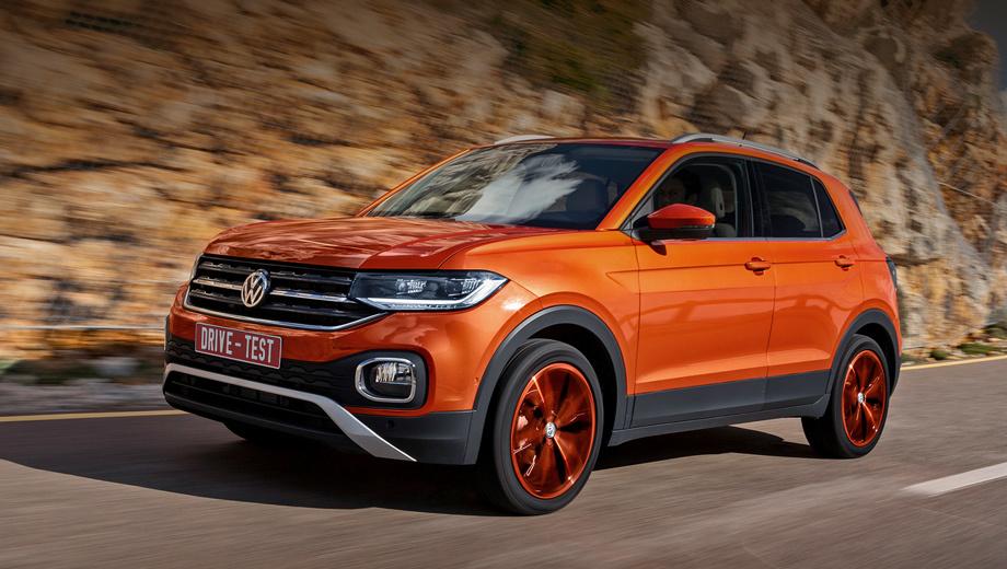 Volkswagen t-cross. Европейские цены стартуют с €17 975. На основе прайс-листа других импортных Фольксвагенов можно предположить, что у нас кроссовер испанской сборки с базовым мотором 1.0 TSI (95 сил) и «механикой» стоил бы не меньше 1,3 млн рублей.