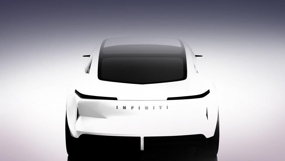 Infiniti concept,Infiniti qs inspiration. Новый прототип не повторяет Infiniti Q Inspiration дословно. Во всяком случае корма, снабжённая диффузором, оформлена иначе, да и по размеру машина кажется значительно компактнее.