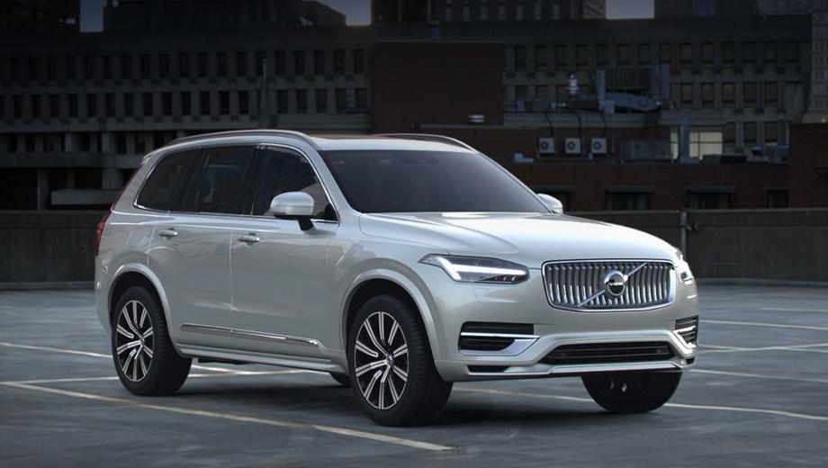 Volvo xc90. Главные изменения во внешности — вогнутая решётка и С-образные элементы по краям переднего бампера (это не касается исполнения R-Design). Прочие новшества — дополнительные цвета кузова и  варианты колёсных дисков.