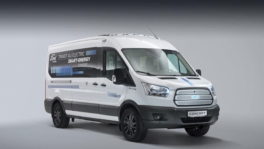 Ford transit,Ford concept,Ford transit smart energy. Концепт построен в фордовском техническом центре Merkenich близ Кёльна. До конца года машина попадёт в аэродинамическую трубу для принятия ряда мер по оптимизации аэродинамической эффективности, после чего отправится на дорожные тесты.