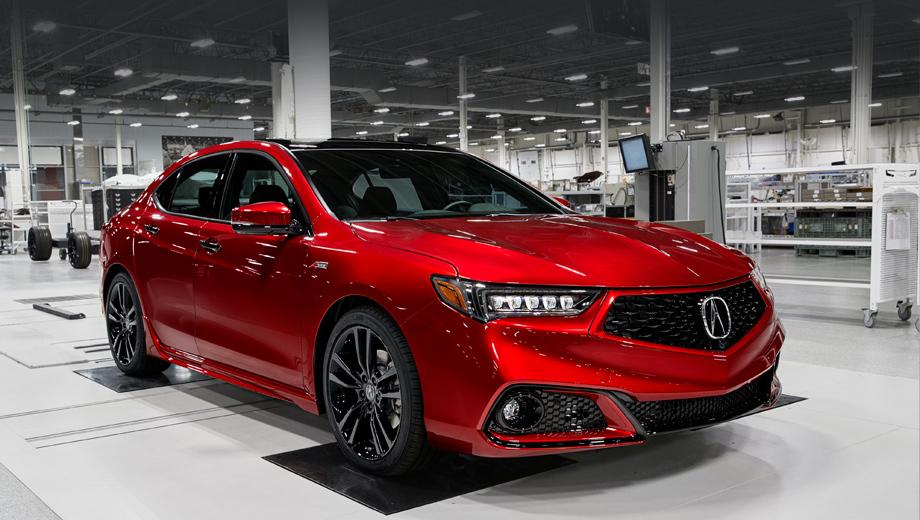 Acura tlx. Глянцево-чёрные акценты, включая решётку радиатора, крышу и дверные ручки, а также окантовка решётки в цвет кузова — не главное. Куда интереснее основной оттенок Valencia Red Pearl — «самый яркий на любой Акуре, ранее доступный лишь NSX». Краска создана и нанесена по особой технологии, мы разберём её подробнее.