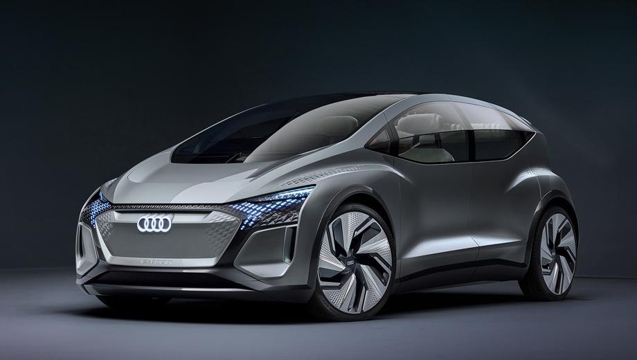 Audi ai-me,Audi concept. Размеры указаны не с точностью до миллиметра, зато впервые по всем направлениям. Длина — 4300 мм, ширина — 1900, высота — 1520, колёсная база — 2770 мм. Кузов выполнен из композита (сталь, алюминий, пластик). Обещан автопилот четвёртого уровня.