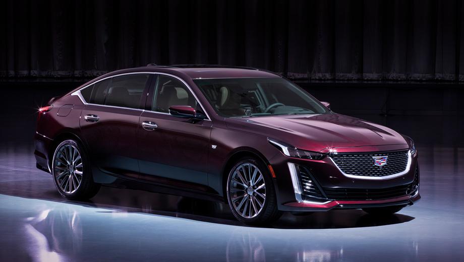 Cadillac ct5. По размерам новобранец близок к Audi A6. Длина — 4924 мм, ширина — 1883, высота — 1452, колёсная база — 2947 мм. Снаряжённая масса составляет 1660 кг. Размерность шин: 245/45 R18, 245/40 R19.