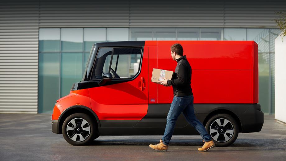 Renault ez-flex. Электрокар будет представлен на широкой публике 16 мая в рамках выставки VIVA Technology в Париже. Автомобиль предназначен для доставки товаров в городах на «последней миле».