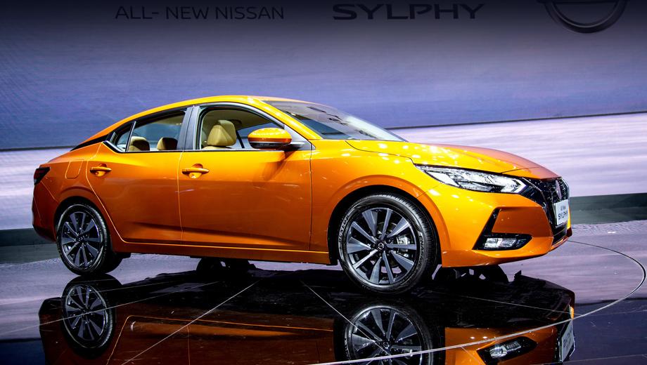 Nissan sylphy. Длина модели — 4641 мм (+26 к прошлому поколению), ширина — 1815 (+55), высота — 1450 (-45), колёсная база — 2712 мм (+12).