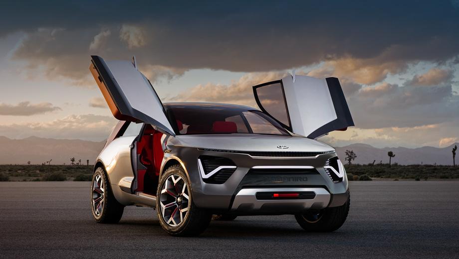 Kia habaniro,Kia concept,Kia stinger,Kia stinger gts. За дизайн отвечает калифорнийская студия, а пиарщики придумали для HabaNiro игривую «легенду». Мол, это не просто SUV, а новый вид ECEV (Everything Car EV, «машина хоть куда»). Мол, можно и по улицам ездить, и на бездорожье сунуться! Ещё тут несуществующий автопилот высшего уровня.