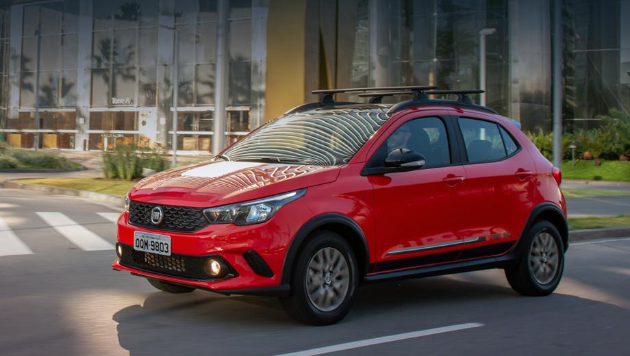 Fiat argo,Fiat argo trekking. Argo Trekking будет доступен у бразильских дилеров с конца апреля в четырёх вариантах раскраски кузова: двух белых, красном и сером. Для модели предусмотрено более 50 аксессуаров от ателье Mopar, например, багажники на крышу и крепление для велосипеда.