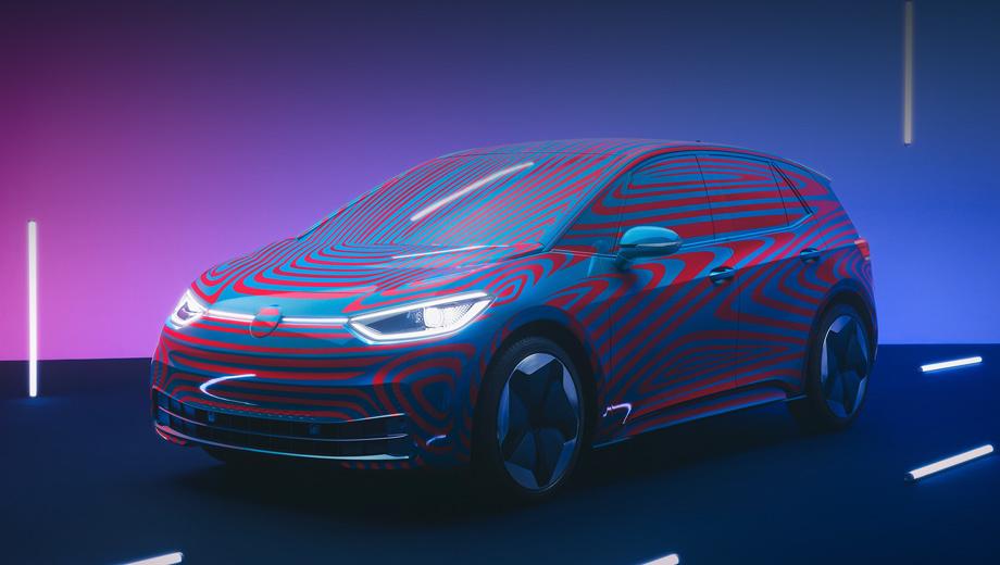 Volkswagen id,Volkswagen id 3. По сравнению с ранее виденными тестовыми образцами в пятнистой плёнке этот хэтч уже позволяет почти без помех рассмотреть многие детали. Машина серийная, в специальном «приветственном» издании 1ST, на которое в Европе уже открыт приём заказов и которое выйдет ограниченным тиражом 30 000 штук.