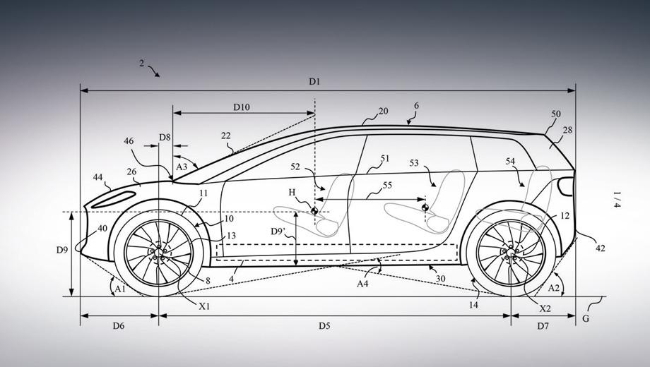 Электрокар бренда Dyson показался на патентных рисунках