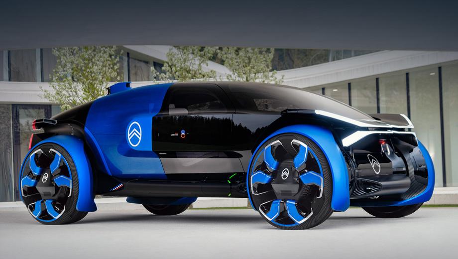 Citroen 19-19,Citroen concept. Длина, ширина и высота концепта — 4655, 2240, 1600 мм, колёсная база составляет 3100 мм, размерность шин — 255/30 R30 (наружный диаметр 930 мм).