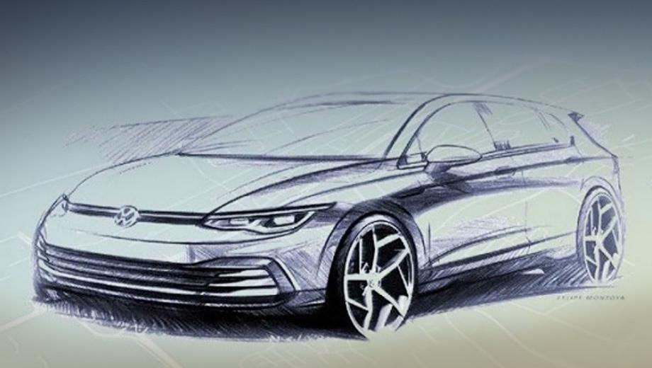 Хэтчбек Volkswagen Golf VIII впервые показал свой салон