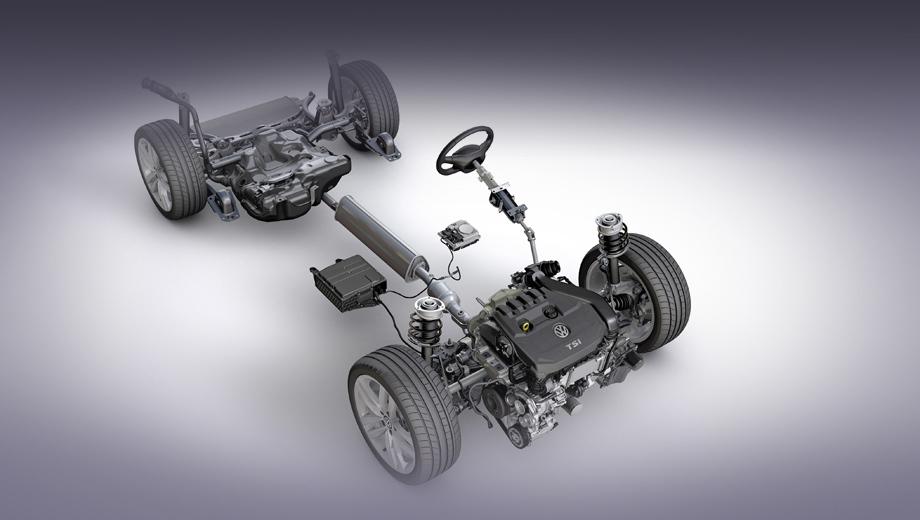 Volkswagen golf. Акцент на умеренную гибридную систему в презентации сделан, чтобы показать, что Volkswagen желает расширить применение гибридных технологий в сторону более «демократичных» вариантов. Гибриды с зарядкой от сети для фирмы не в диковинку, но это ведь были явно не самые доступные модификации моделей.