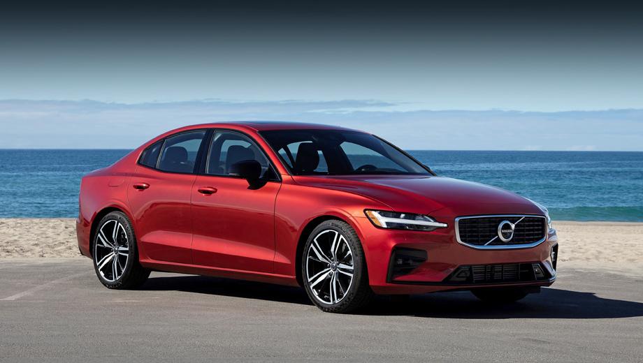 Volvo s60. На момент премьеры в июне 2018-го не были известны точные размеры машины, поэтому укажем их здесь. Длина, ширина, высота — 4761×1850×1431 мм, колёсная база — 2872. Заметим, что с апреля у нас продаётся универсал Volvo V60 Cross Country.